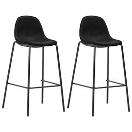 Барный стул VLX Fabric 281535, черный, 2 шт.