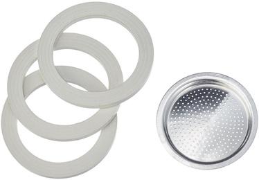Bialetti 0800003 3 Gasket + 1 Filter Bialetti Moka Express 3/4 Cups