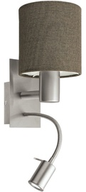 Eglo Pasteri 96386 Wall Lamp 40W E27/3.5W LED Nickel/Brown