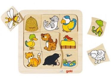 Goki Wooden Puzzle Who Lives Where 9pcs 56881