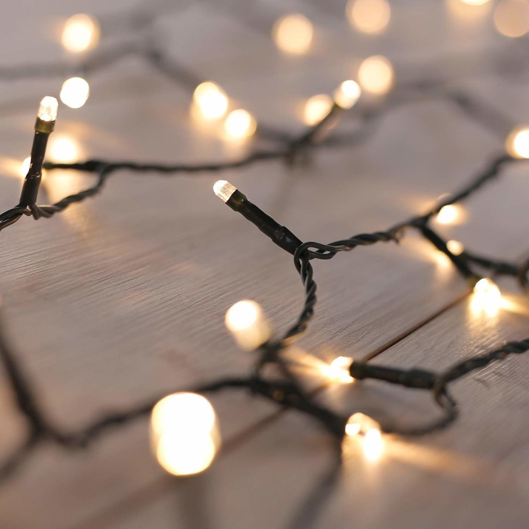 Elektriskā virtene DecoKing LED Chain, silti balta, 743 cm