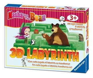 Stalo žaidimas Ravensburger Game Masha And The Bear 3D Labyrinth 21180