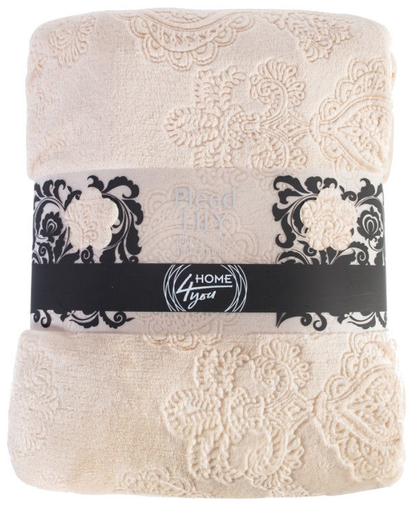 Home4you Lily 3D Blanket 150x200cm Beige