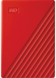 "Western Digital 4TB My Passport USB 3.2 2.5"" Red"