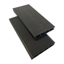 WPC terasų lenta Garden Center, 290x13.5x2.5 cm, ruda/pilka, 4 vnt.