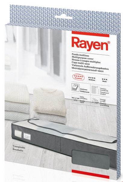 Rayen Premium Clothes Box 103x16x45cm Grey