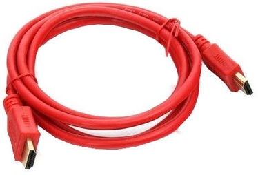Omega HDMI To HDMI Cable 1.5m Red