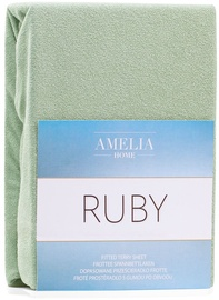 AmeliaHome Ruby Frote Bedsheet 180-200x200 Olive Green 13