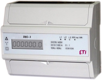 Modulinis elektros skaitiklis (DEC-3, 3 fazių)