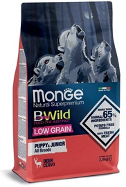 Monge BWild Puppy & Junior All Breeds Dry Food w/ Wild Deer 2.5kg