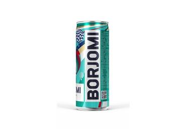 Mineralinis vanduo Borjomi, gazuotas, skardinė, 0,33 l
