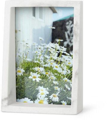 Umbra Edge Marble Photo Frame White 10x15cm