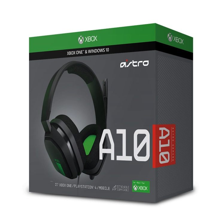 Astro Gaming A10 Headset Grey/Green For Xbox One