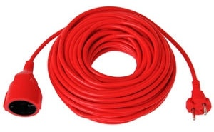 Verners Extension Cord Red 50m