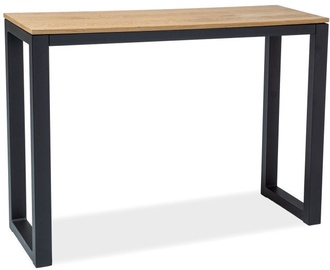 Konsoles galds Signal Meble Umberto K Oak/Black, 1200x340x850 mm