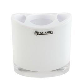 Stiklinė dantų šepetėliams Futura Optic BA4202, balta