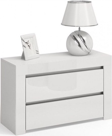 Top E Shop Deko D2 Night Stand of 2 Drawers Gloss White