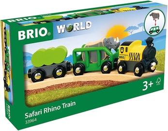 Traukinys Brio World Safari Rhino 33964