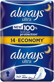 Always Ultra Duo Night Pads 14pcs