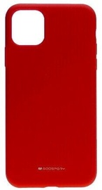 Mercury Fiber Soft Touch Matte Back Case For Apple iPhone 11 Pro Max Red
