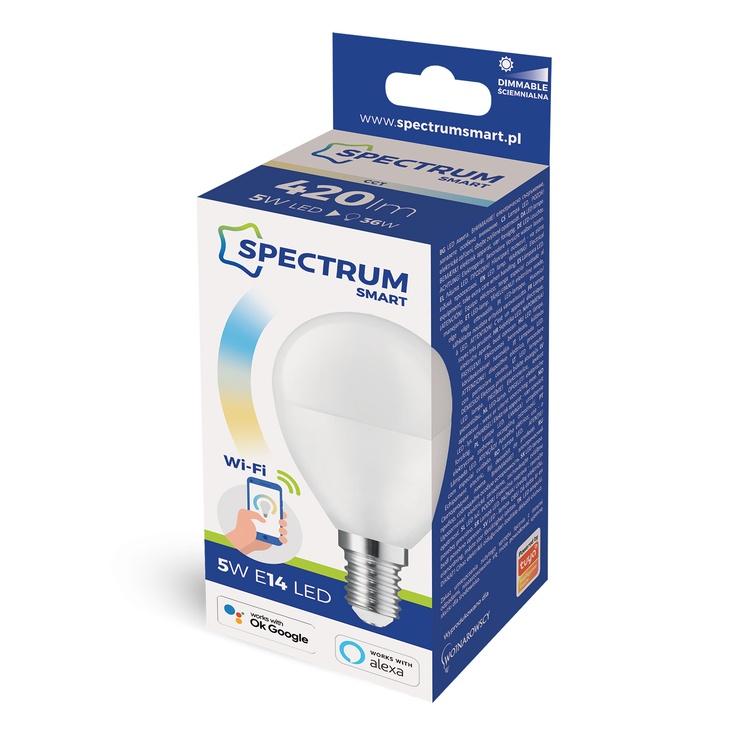 Viedā spuldze Spectrum LED, E14, A40, 5 W, 420 lm, daudzkrāsaina