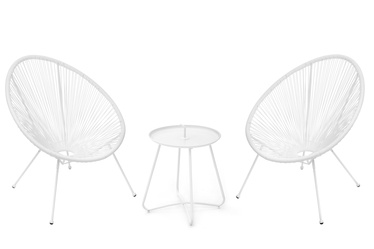 4living Acapulco Garden Furniture Set White
