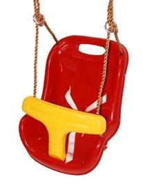 Пластиковые качели 4IQ, красный/желтый