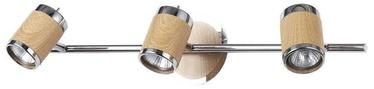 Valgusti Light Prestige Alba 3 Wall Lamp 3x50W GU10 Chrome/Wood