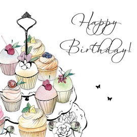 Clear Creations Cake Tray Birthday Card CL1219