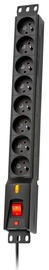 Lestar Rack Surge Protector 8 Outlet Black 3 m