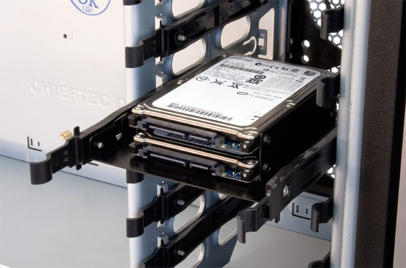 """Chieftec Storage Drive Cage 2 x 2.5""""-3.5"""" HDD/SSD"""