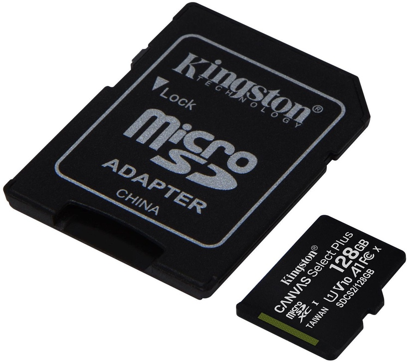 Mälukaart Kingston 128GB CL10 MicSDHC