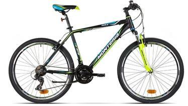 """Vaikiškas dviratis Monteria MRX 19"""" 26"""" Black Blue Yellow 20"""