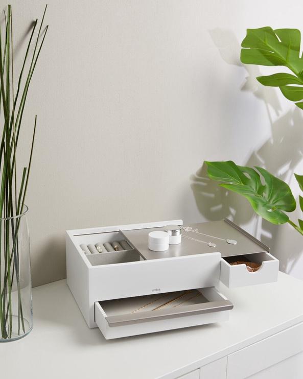 Umbra Stowit Jewelry Box White 22x26x12cm
