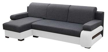 Stūra dīvāns Idzczak Meble Grey Grey/White, kreisais, 260 x 140 x 72 cm