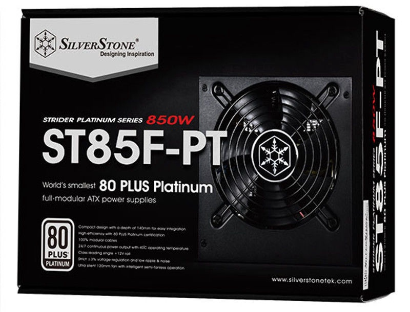 SilverStone PSU Strider 80 Plus Platinum ST85F-PT 850W
