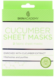 Skin Academy Sheet Cucumber Masks 2pcs