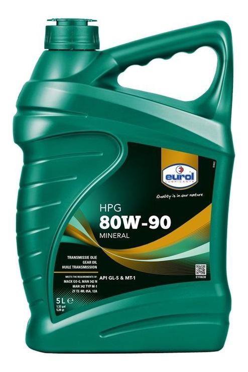 Масло для трансмиссии Eurol HPG GL5 80W - 90, минеральное, для легкового автомобиля, 5 л