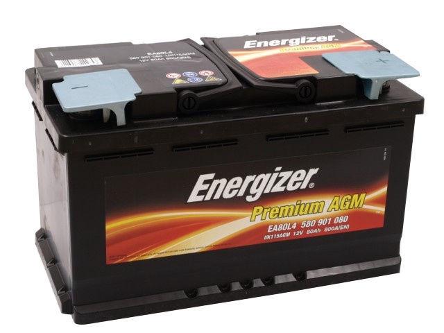 Аккумулятор Energizer Premium AGM, 12 В, 80 Ач, 800 а