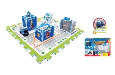 Žaislinė dėlionė - kilimas, Policija, su priedais