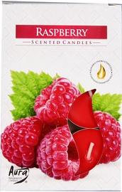 Aura Candles Tea Lights Raspberry 6pcs