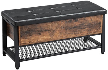 Songmics Storage Bench Brown/Black