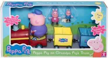 Rotaļlietu figūriņa Peppa Pig On Grandpa Pig's Train 05034