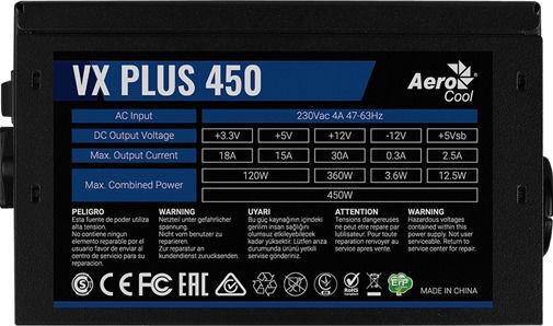 Aerocool VX-450 Plus 450W AEROVX-450PLUS