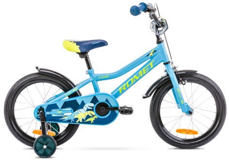 Vaikiškas dviratis Romet Tom 16 9'' Blue/Green
