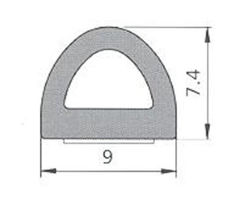 BLĪVGUMIJA D 9X7.5 SD-1AX/4E RUDA(100)