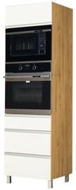Bodzio Monia High Rise Oven Microwave Cabinet White/Brown