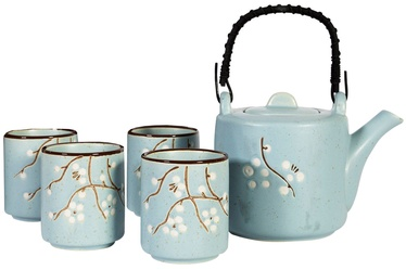 Home4you Tea Set Yang 5pcs Light Blue