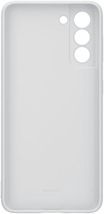 Samsung Silicone Back Case For Samsung Galaxy S21 Light Gray