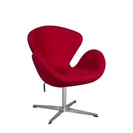 Home4you Swan Armchair Red